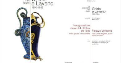 """mostre // a LUINO (Palazzo Verbania) la mostra """"Le ceramiche dei laghi.Ghirla e Laveno. 1900-1955″… fino a GIOVEDI' 14 NOVEMBRE"""